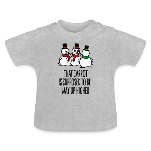 Lustige Weihnachten Geschenk Schneemann Karotte - Baby T-Shirt