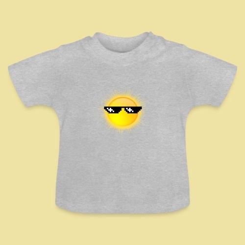 coole Sonne mit Sonnenbrille - Baby T-Shirt