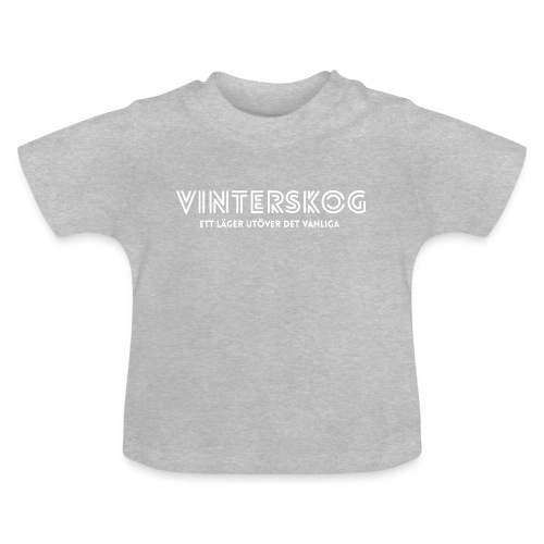 Vinterskog med vitt tryck - Baby-T-shirt