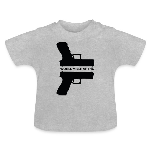 WorldMilitaryHD Glock design (black) - Baby T-shirt
