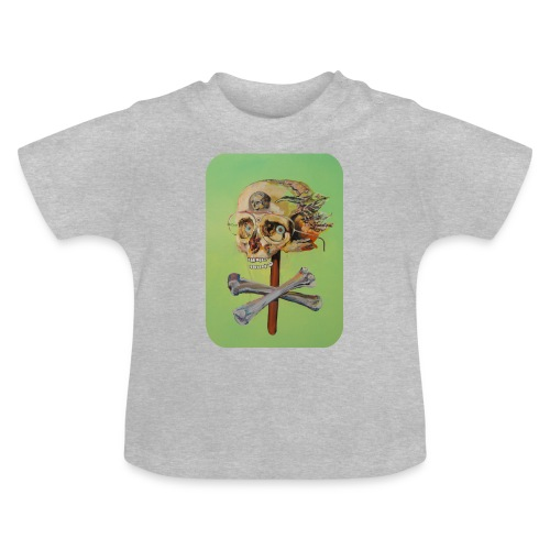 oil painting of skull and bones - Baby T-shirt