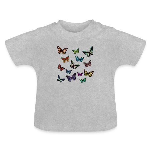 Butterflies flying - Baby-T-shirt