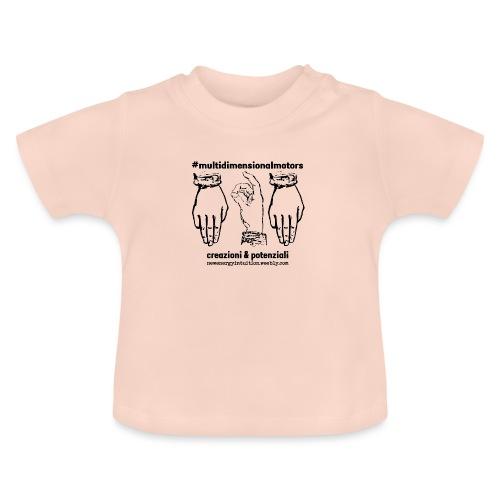logo #MultiDimensionalMotors con segni mano - Maglietta per neonato