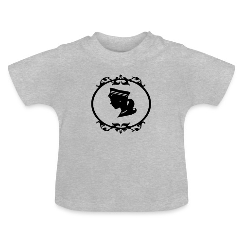 Mädel oval 1 farbig - Baby T-Shirt