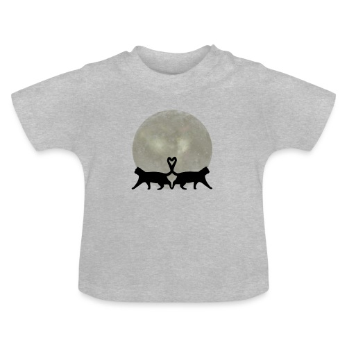 Cats in the moonlight - Baby T-shirt