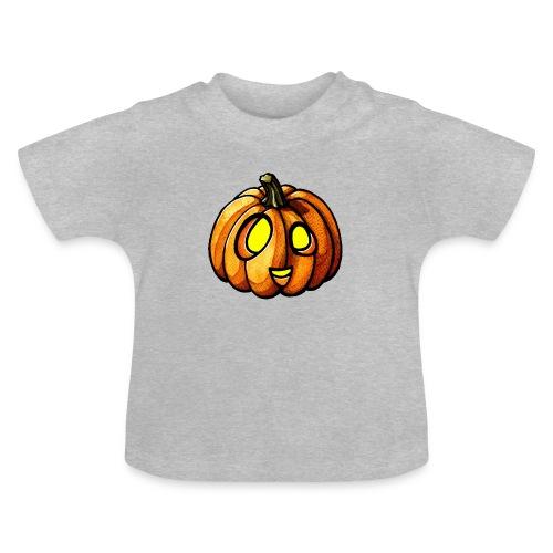 Pumpkin Halloween watercolor scribblesirii - Vauvan t-paita