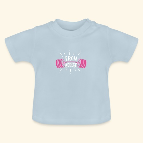 VSK Lustiges GYM Shirt Iron Addict - Baby T-Shirt