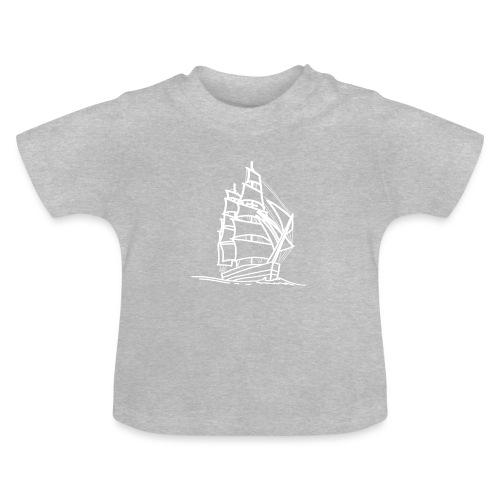 Segelschiff Illustration Meer Schiff Bootsfahrt - Baby T-Shirt