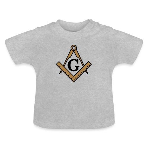 Freimaurer Symbol, Wappen Zirkel & Winkelmaß - Baby T-Shirt