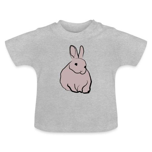 Piirros pupu - väri - Vauvan t-paita