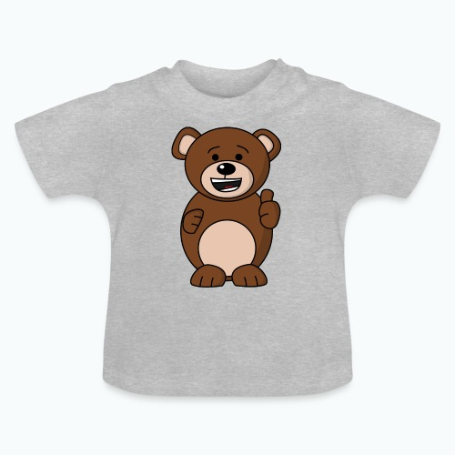 Bruno Bear Happy - Appelsin - Baby-T-shirt