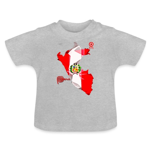 Mapa del Peru, Bandera y Escarapela - Baby T-Shirt