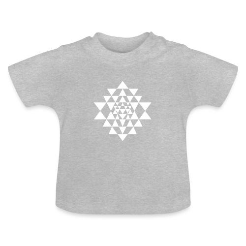 Valkoinen Shri Yantra -kuvio - Vauvan t-paita