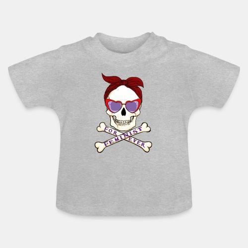 Feminist skull - Camiseta bebé