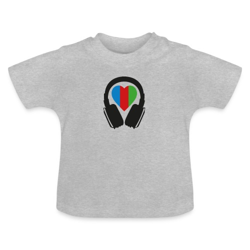 Silent Disco Headphone > Heart | black - Baby T-Shirt