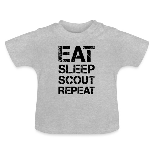 EAT SLEEP SCOUT REPEAT Kreide - Farbe frei wählbar - Baby T-Shirt
