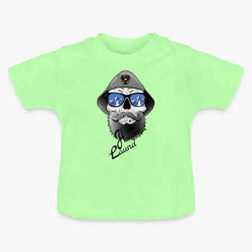 Totenkopf mit Filzhut und Österreich Adler - Baby T-Shirt