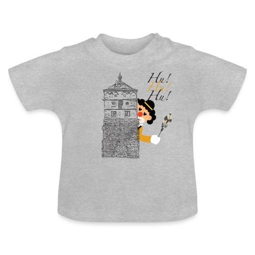 Hu! Hu! Hu! Schwarzgelber Clown am Schwarzen Tor - Baby T-Shirt
