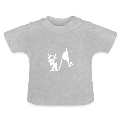 Renne blanc - Une blonde en Norvège - T-shirt Bébé