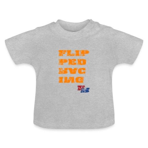 Flipped Racing, Orange - Baby T-Shirt