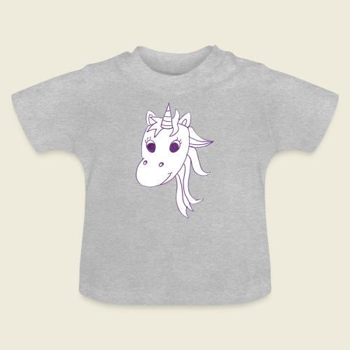 Einhorn Unicorna einfarbig weiß lila - Baby T-Shirt