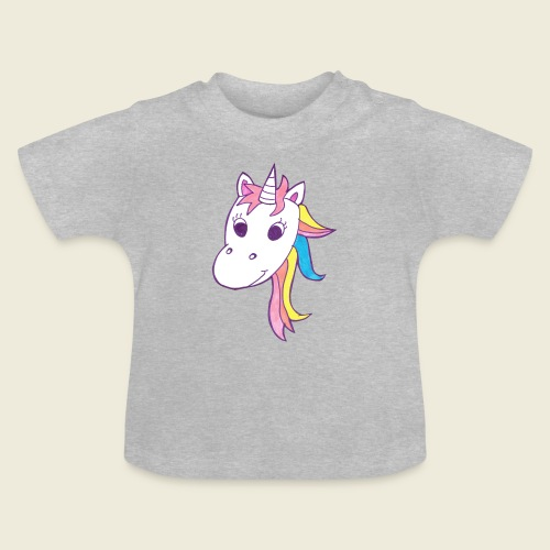 Einhorn Unicorna lila weiß bunte Mähne - Baby T-Shirt