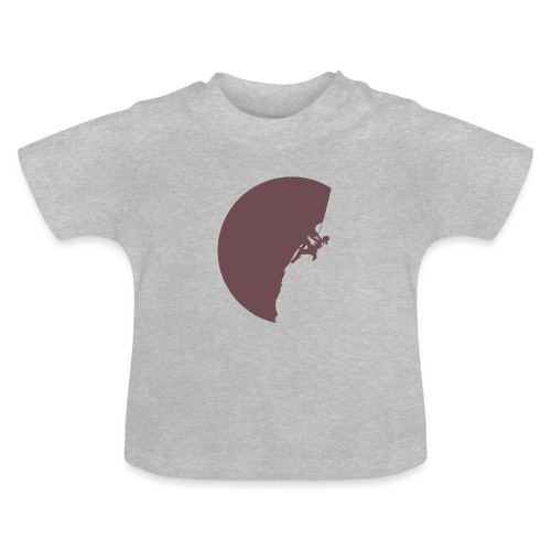 Klettrerin beim Klettern - Baby T-Shirt