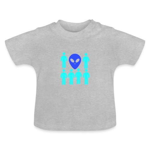 Extraterestre y Humano - Camiseta bebé