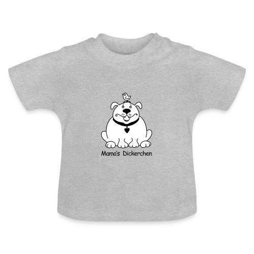 Dicker, süßer Hund s/w - Baby T-Shirt