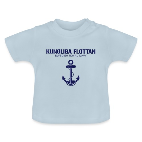 Kungliga Flottan - Swedish Royal Navy - ankare - Baby-T-shirt