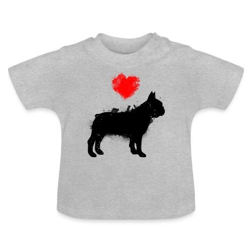 Französische Bulldogge Wunschname - Baby T-Shirt
