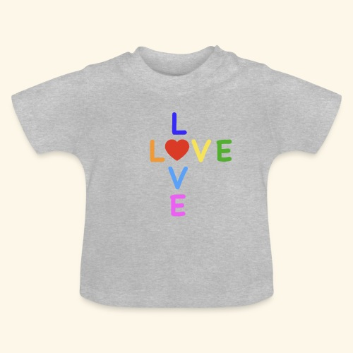 Rainbow Love. Regenbogen Liebe - Baby T-Shirt