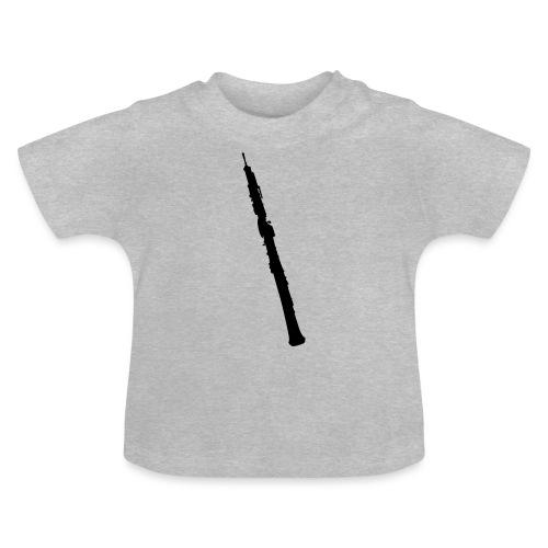 Oboe en sombra negro - Camiseta bebé