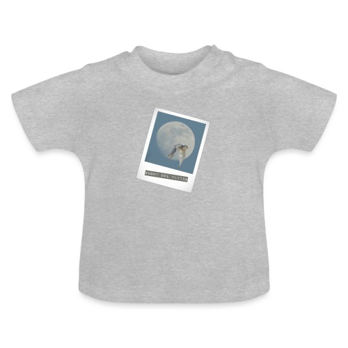 Owl Magical Polaroid Flying Full Moon - Baby T-Shirt