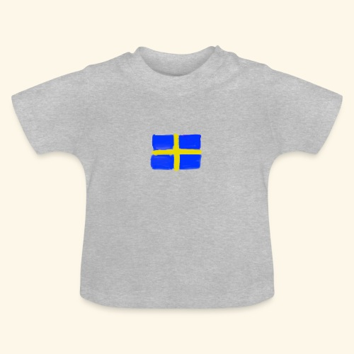 Swedish flag in Watercolours - Baby-T-shirt