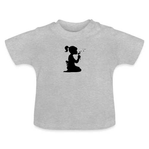 girl with flower - Baby T-shirt
