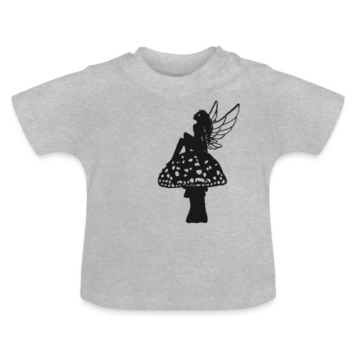 Silver fairy BLACK - Baby T-Shirt