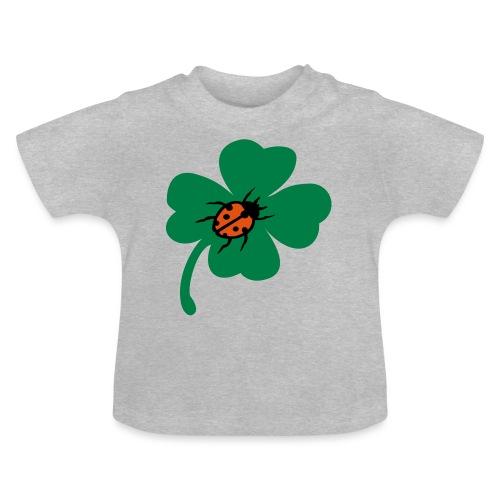 Glück Kleeblatt Marienkäfer - Baby T-Shirt