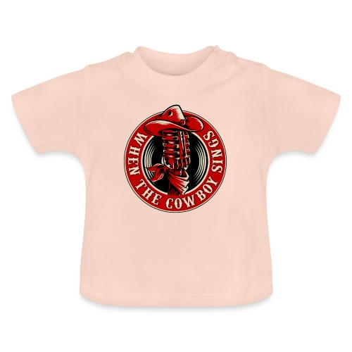 Logo when the cowboy sings - Camiseta bebé