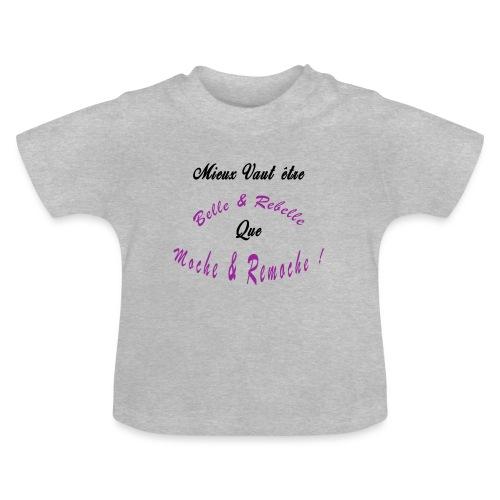 BELLE ET REBELLE - T-shirt Bébé