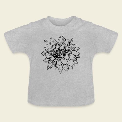 Dahlie schwarz - Baby T-Shirt