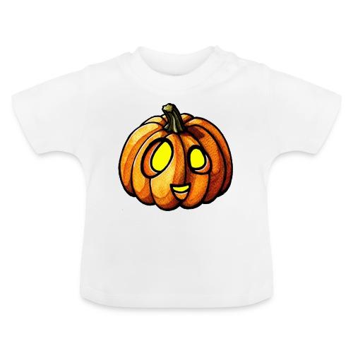 Pumpkin Halloween watercolor scribblesirii - Baby T-shirt