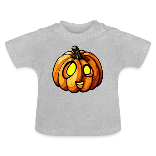 Pumpkin Halloween watercolor scribblesirii - Baby T-Shirt