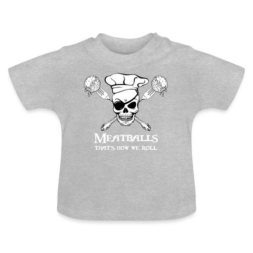Meatballs - tinte scure - Maglietta per neonato