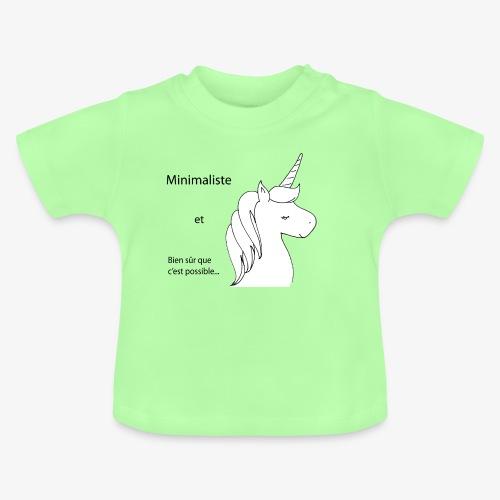 minimalist unicorn - Baby T-Shirt
