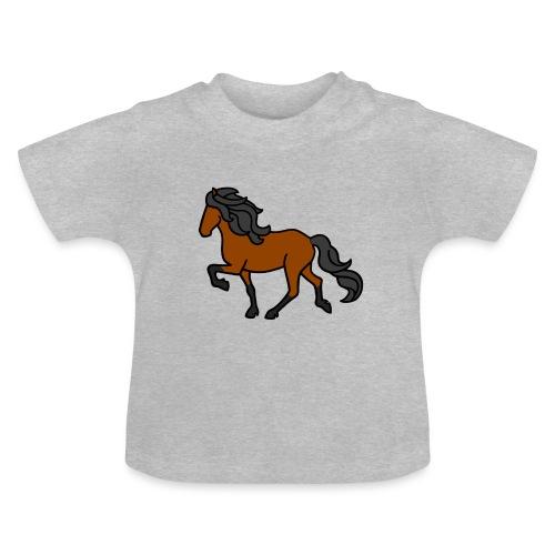 Islandpferd, Brauner, heller - Baby T-Shirt