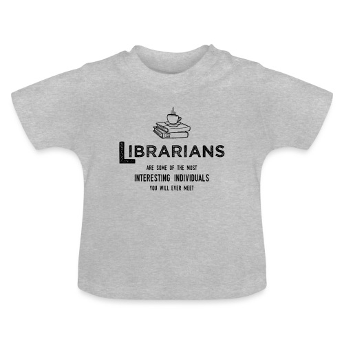 0335 Librarian Cool story Funny Funny - Baby T-Shirt
