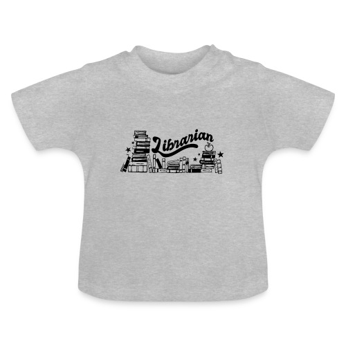 0321 Books Librarian stack of books funny - Baby T-Shirt