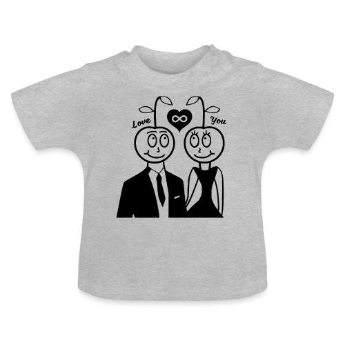 Happy Kirsche Schwarz - Baby T-Shirt