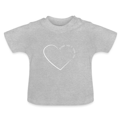 LOVE white png - Baby T-Shirt